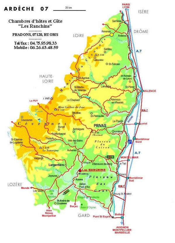 Plans d 39 acc s - Office du tourisme ardeche nord ...